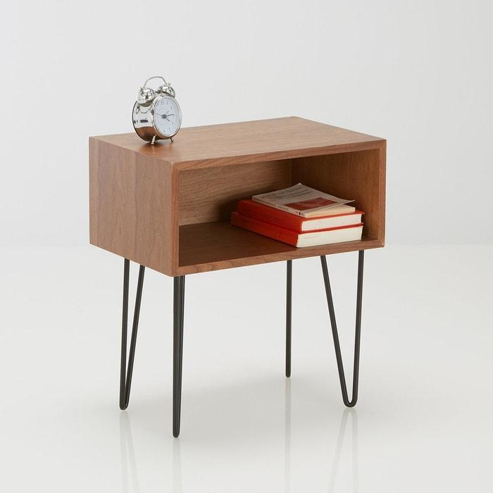 Chevet vintage watford la redoute interieurs noyer noir - Table de chevet la redoute ...