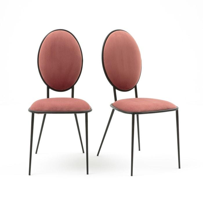 Cadeiras medalhão, em metal e veludo, NOVANI (lote de 2)  La Redoute Interieurs image 0