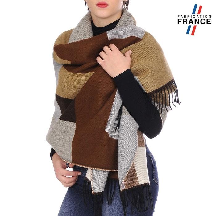 Excellent Dérivatif Vente Pas Cher Nice Châle patchwork wela taupe et marron 100% En Ligne D'origine hPUN4qjYLA