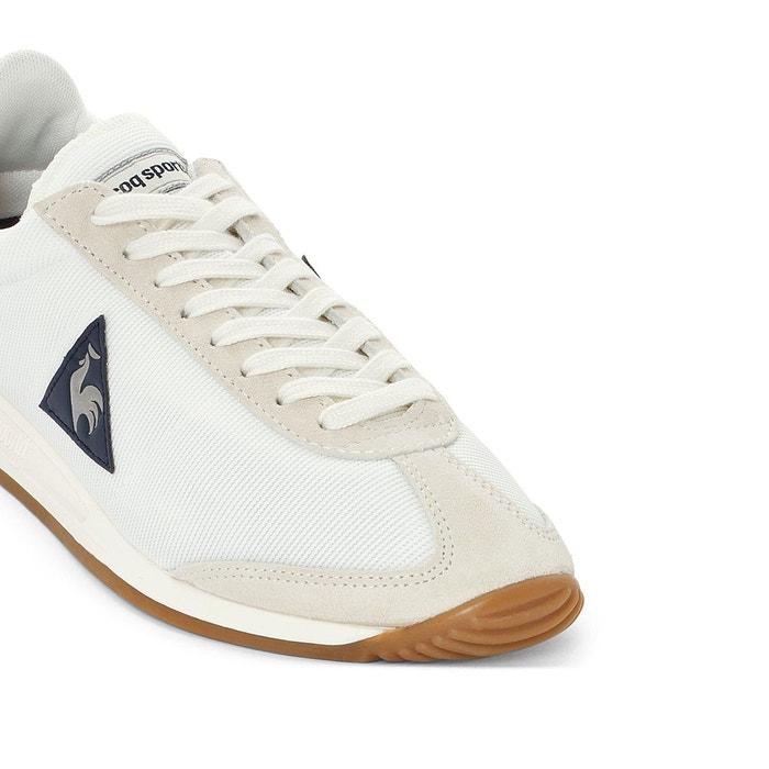 Baskets quartz nylon gum blanc Le Coq Sportif