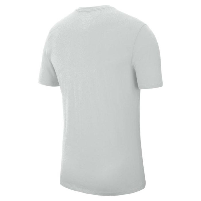 estampado Camiseta redondo y con delante corta de cuello manga NIKE nqdvXFq