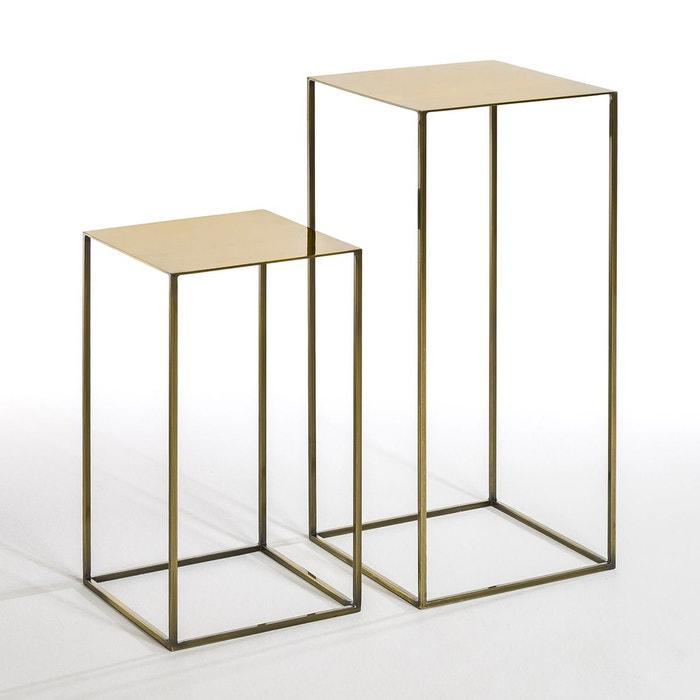sellette romy lot de 2 laiton am pm la redoute. Black Bedroom Furniture Sets. Home Design Ideas