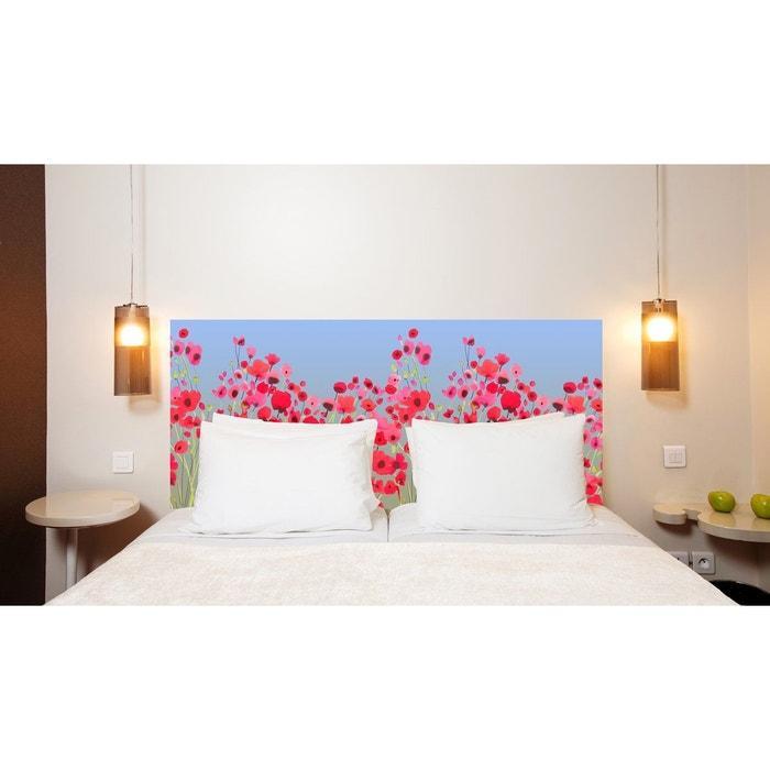 t te de lit en tissu poppy power fixer au mur sans support en bois multicolore mademoiselle. Black Bedroom Furniture Sets. Home Design Ideas