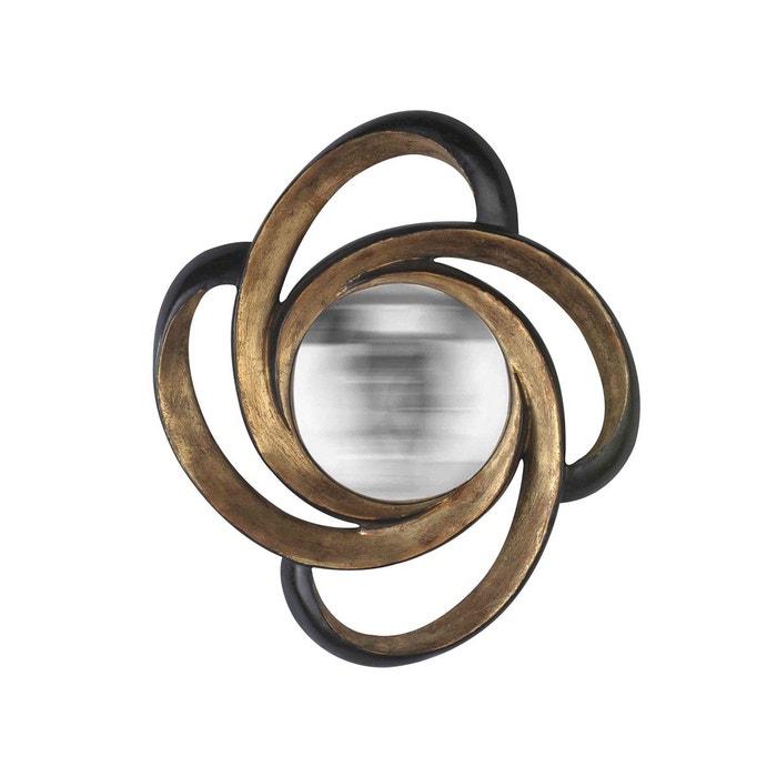 Miroir boucle noir et or or emde premium la redoute for Miroir emde deco