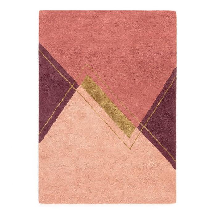Tapis coton et viscose alabama rose prune la redoute - La redoute tapis salon ...