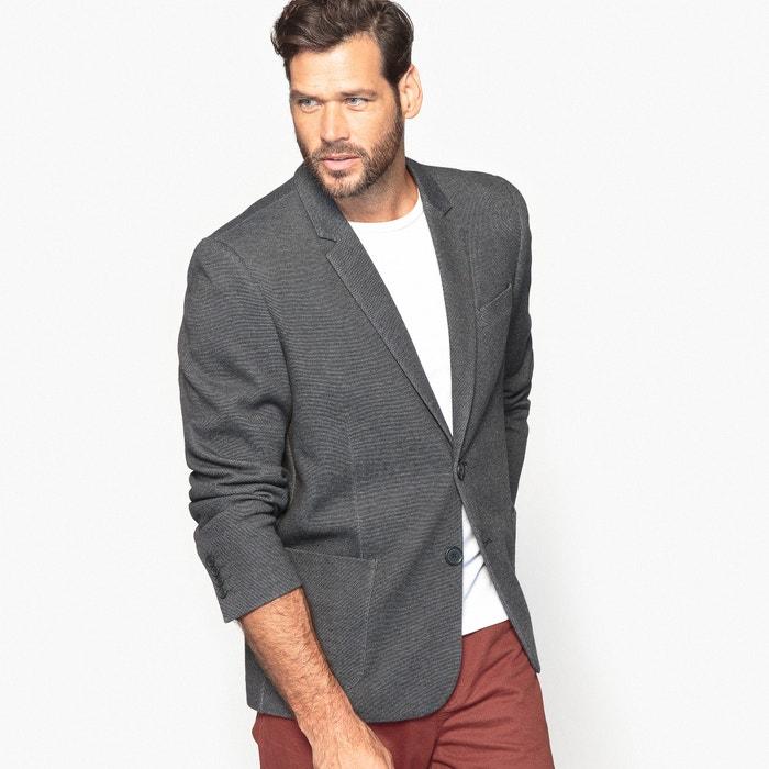 afbeelding Recht blazer jasje in piquétricot CASTALUNA FOR MEN