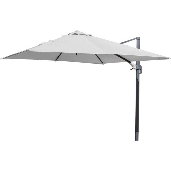 Parasol d port carr 3 m tres proloisirs la redoute - Parasol grande taille ...