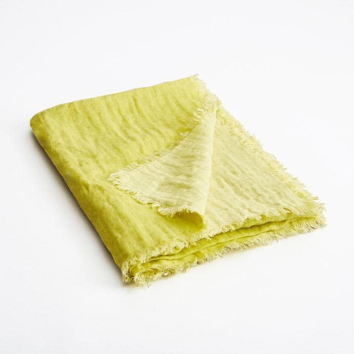 Plaid in lino effetto goffrato bicolore Orosco  AM.PM. image 0