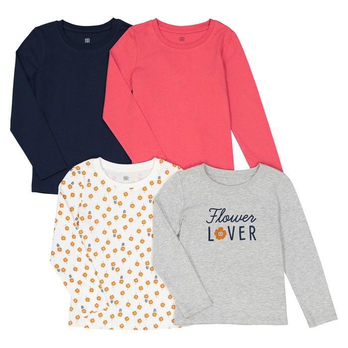Комплект из 4 футболок с длинными рукавами 3-12 лет  La Redoute Collections image 0