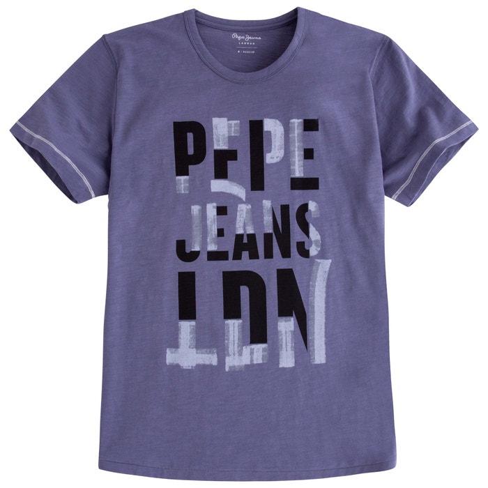 T-Shirt mit Rundhalsausschnitt, unifarben  PEPE JEANS image 0