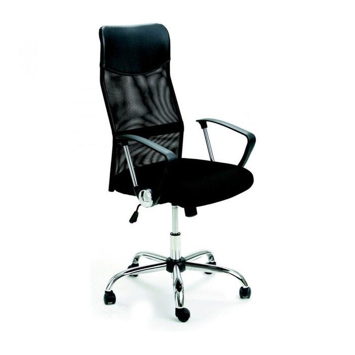 fauteuil de bureau scanner noir drawer la redoute. Black Bedroom Furniture Sets. Home Design Ideas