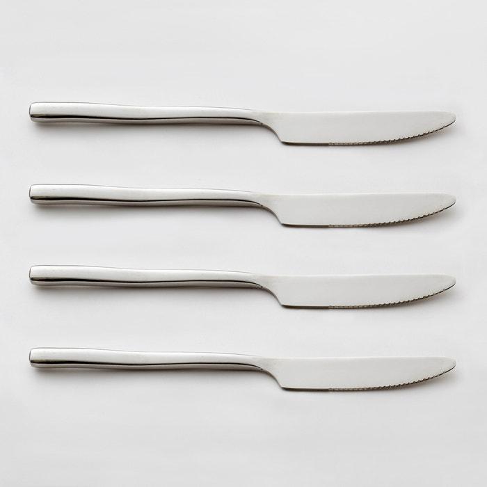 Lote de 4 cuchillos de acero inoxidable ANDRINE  La Redoute Interieurs image 0