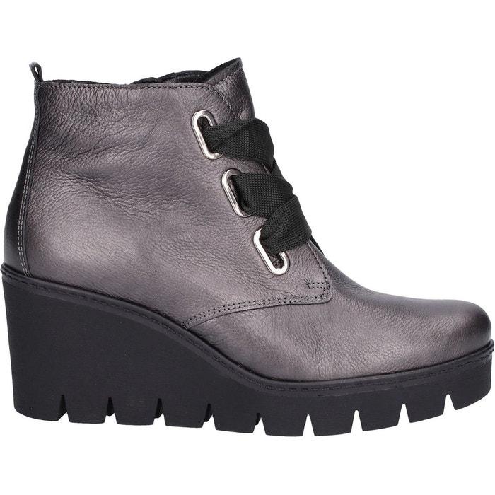 Bottines cuir gris Gabor  7ab73795fec