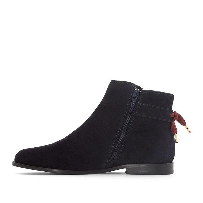 ... Boots cuir détail nœud La Redoute Collections (4) ...
