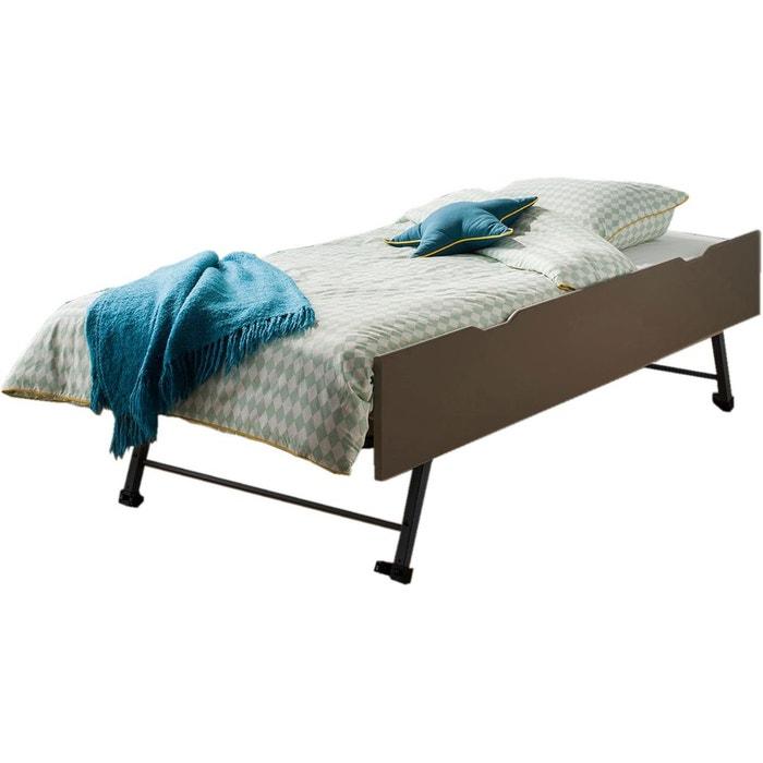 tiroir lit gigogne taupe 90x200x29 taupe alfred et compagnie la redoute. Black Bedroom Furniture Sets. Home Design Ideas