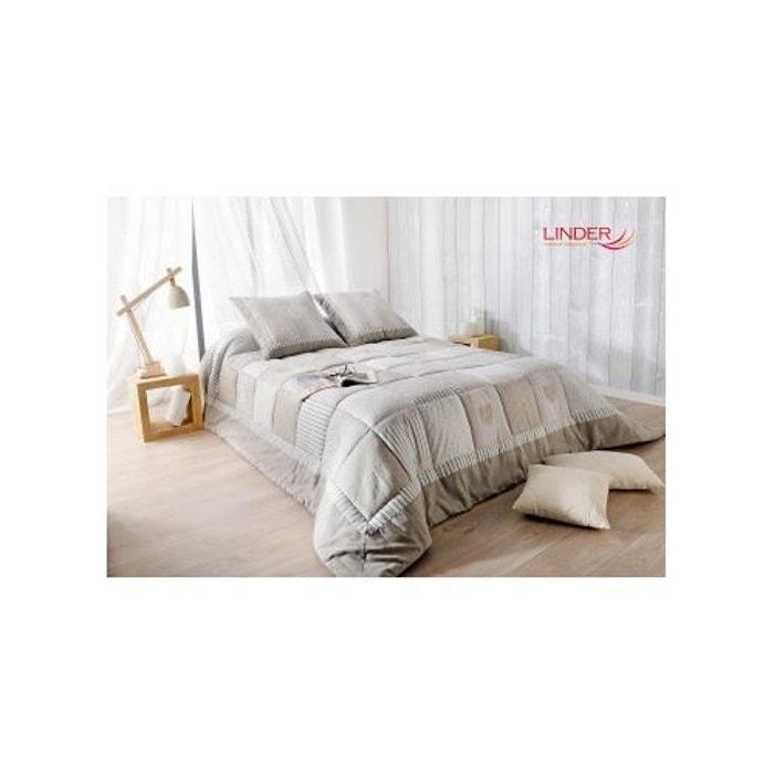 jet de lit ouatin gris et beige avec taie d 39 oreiller gris et beige home maison la redoute. Black Bedroom Furniture Sets. Home Design Ideas
