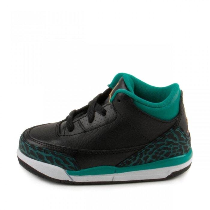1226dcb94189d Basket air jordan 3 retro td bébé noir Nike   La Redoute