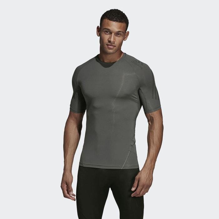 adidas Alphaskin Sport LS 3 Stripe Compression T Shirt