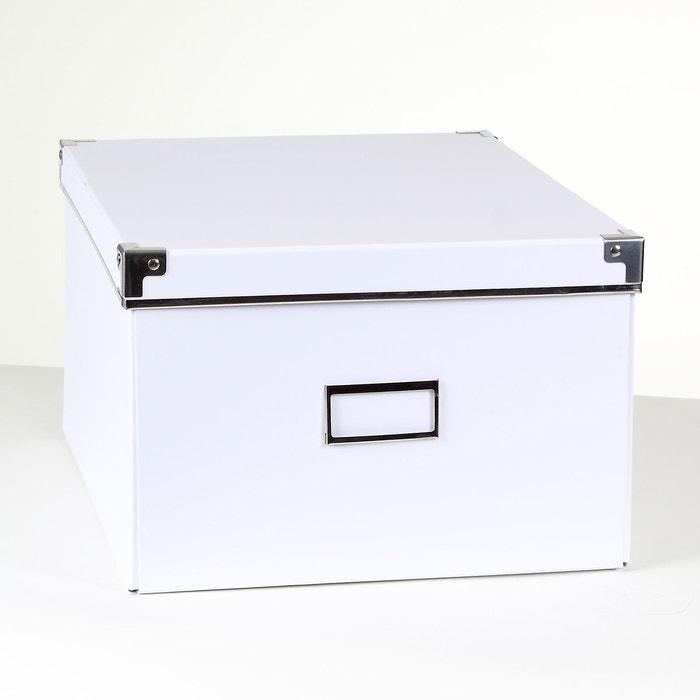 Boîte de rangement carton blanc armature métal - petit modèle ...