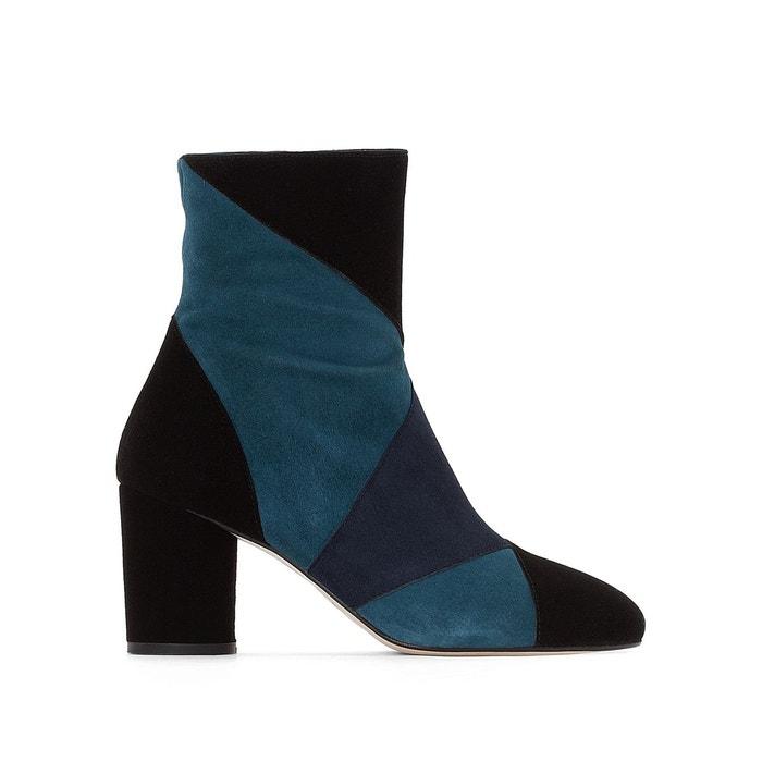 Boots cuir viloube noir/bleu Jonak