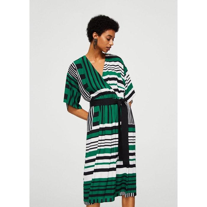 robe cache coeur imprim e vert mango la redoute. Black Bedroom Furniture Sets. Home Design Ideas