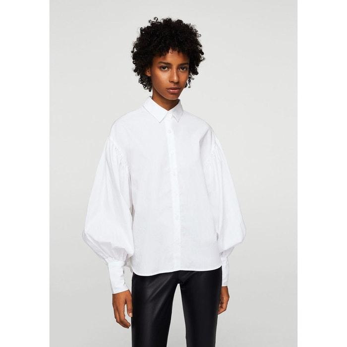chemise manches bouffantes blanc mango la redoute. Black Bedroom Furniture Sets. Home Design Ideas
