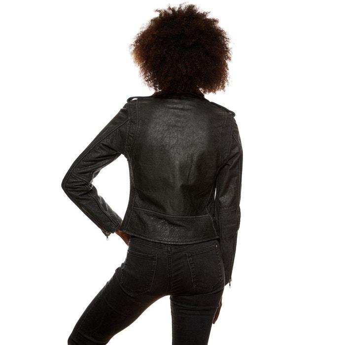65807245707fb1 Perfecto rock agneau noir effet vintage noir Tassa Paris | La Redoute