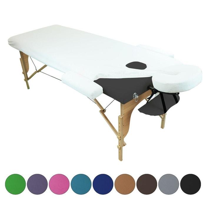 Drap housse de protection 4 pièces en éponge pour table de massage