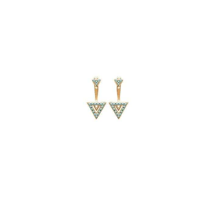 Boucles d'oreilles 'triangle long' Lorenzo R   La Redoute Dégagement 100% Original Vente Visite rktnqVS