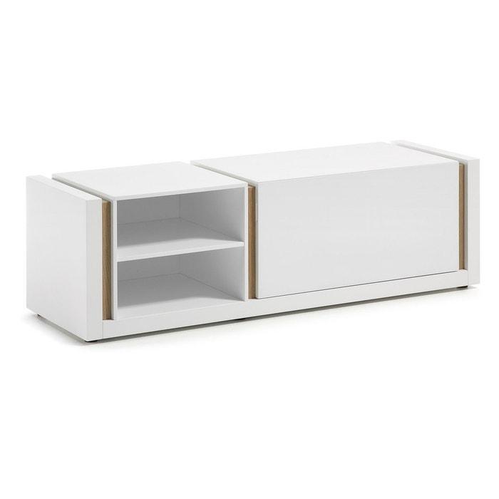 meuble tv de 140 cm blanc blanc kave home la redoute. Black Bedroom Furniture Sets. Home Design Ideas