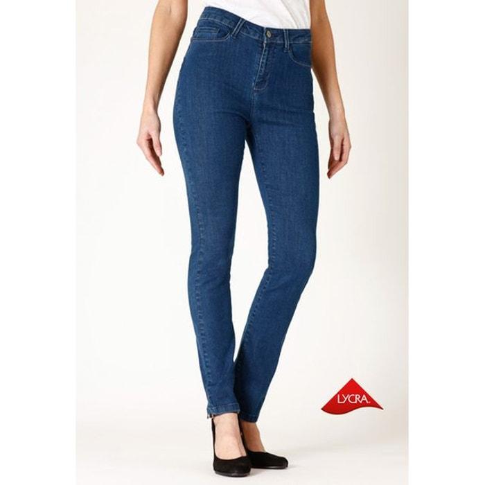 jeans slim taille haute stone bleu ober la redoute. Black Bedroom Furniture Sets. Home Design Ideas
