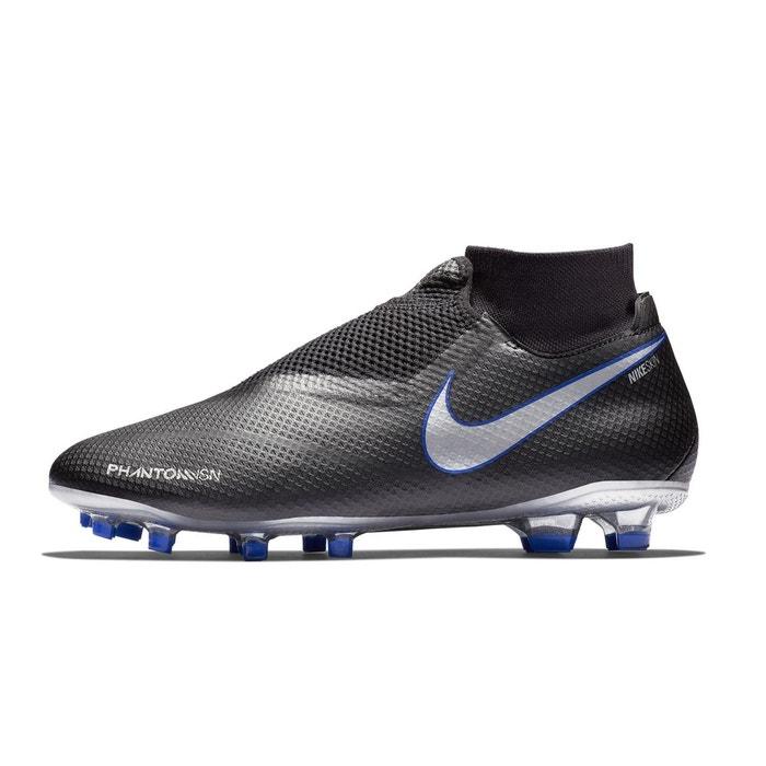 1970f249db28f Chaussures football nike phantom vision pro df fg noir bleu noir Nike