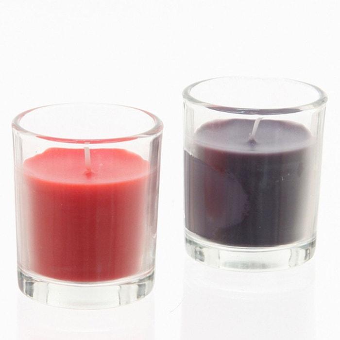 lot de 2 bougies tubes en verre rose comptoir des bougies la redoute. Black Bedroom Furniture Sets. Home Design Ideas