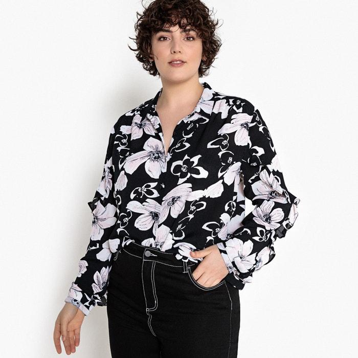 Camicia fantasia a fiori, maniche lunghe con volants  CASTALUNA image 0