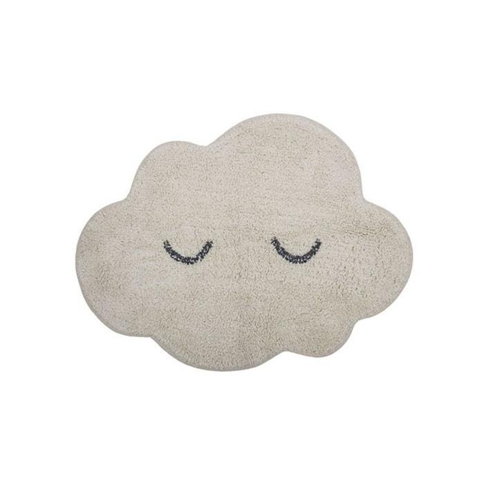tapis chambre enfant nuage blanc blanc bloomingville la. Black Bedroom Furniture Sets. Home Design Ideas