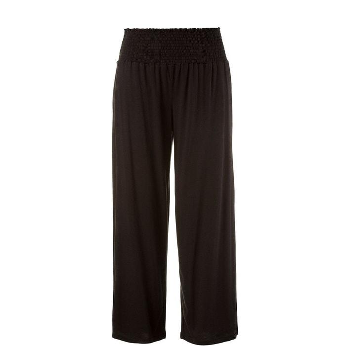 Pantalon de pyjama ceinture élastique marlène noir Ulla Popken   La Redoute fed45047473