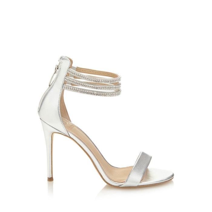 Sandale kathy effet metallise argent Guess