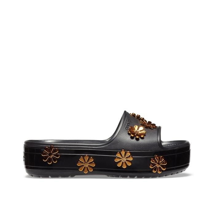 8988d0b7a9e Platform metallic blooms sld mules , black/gold-coloured, Crocs | La Redoute
