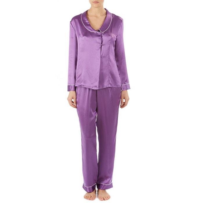 le pyjama en soie violet slenderella la redoute. Black Bedroom Furniture Sets. Home Design Ideas