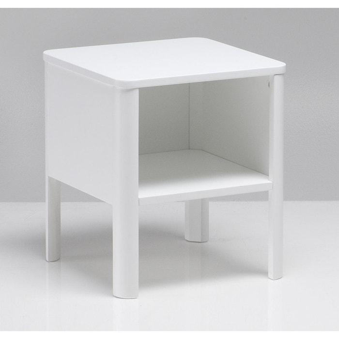 chevet yorick blanc la redoute interieurs la redoute. Black Bedroom Furniture Sets. Home Design Ideas