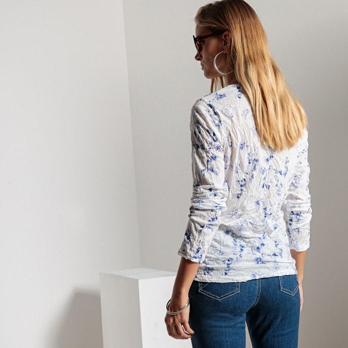punto arrugado estampada Camiseta de WEYBURN larga y ANNE manga wIqBUSxZ