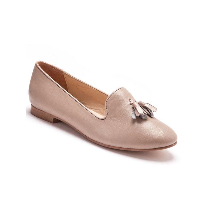 Balsamik - Slippers largeur confort en cuir Balsamik en marron pour femme