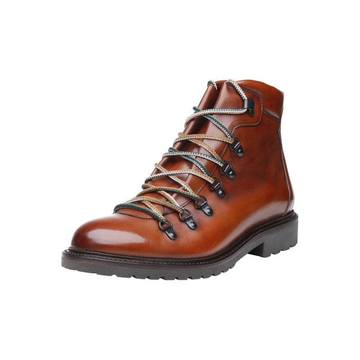 Sneaker italian calf en marron whiskey Shoepassion