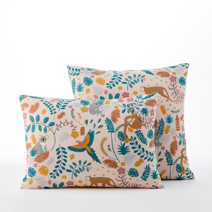 JANGAL Jungle Print Pre-Washed Cotton Percale Pillowcase  AM.PM image 0