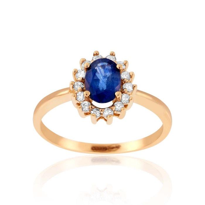 Fourniture Sortie Acheter Prix Pas Cher Bas Bague or 750/1000 saphir bleu Cleor | La Redoute p8qEco