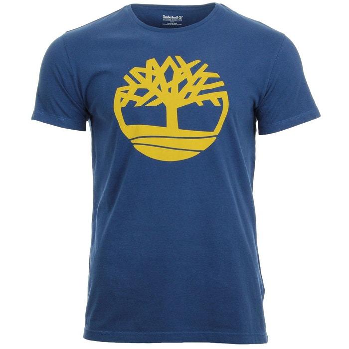 t shirt homme ss brand tree lin re bleu jaune timberland. Black Bedroom Furniture Sets. Home Design Ideas