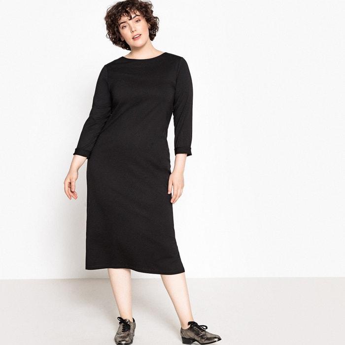 cef327f92a14 Tie back midi dress black La Redoute Collections Plus   La Redoute