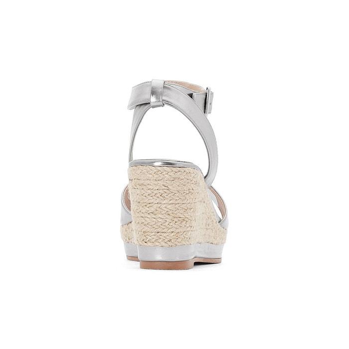 Sandales compensées métallisées pied large 38-45 Castaluna
