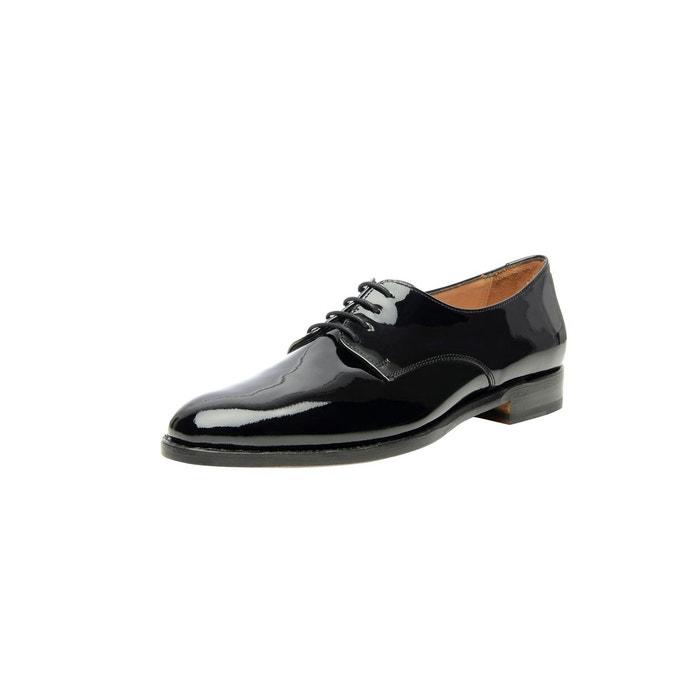 Derby plain verni en noir noir Shoepassion
