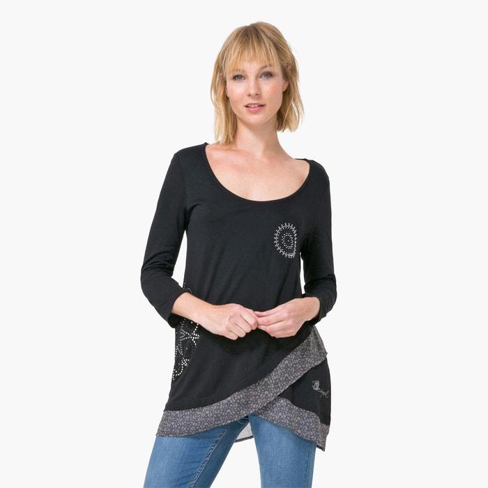 Imagen de Camiseta con drapeado de manga larga DESIGUAL